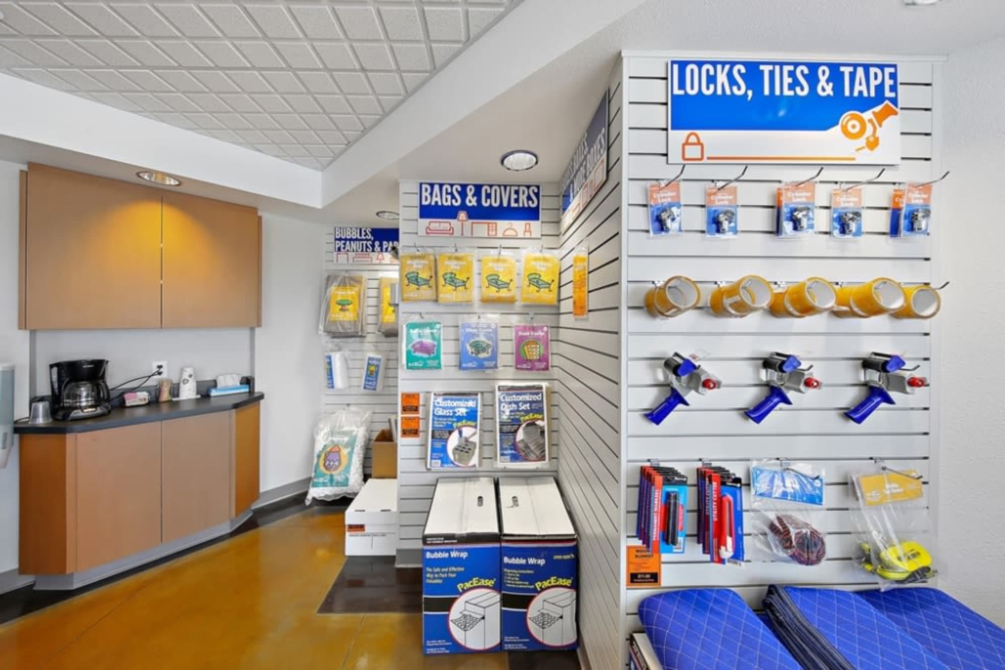 Packing and moving supplies at A-1 Self Storage in San Diego, California