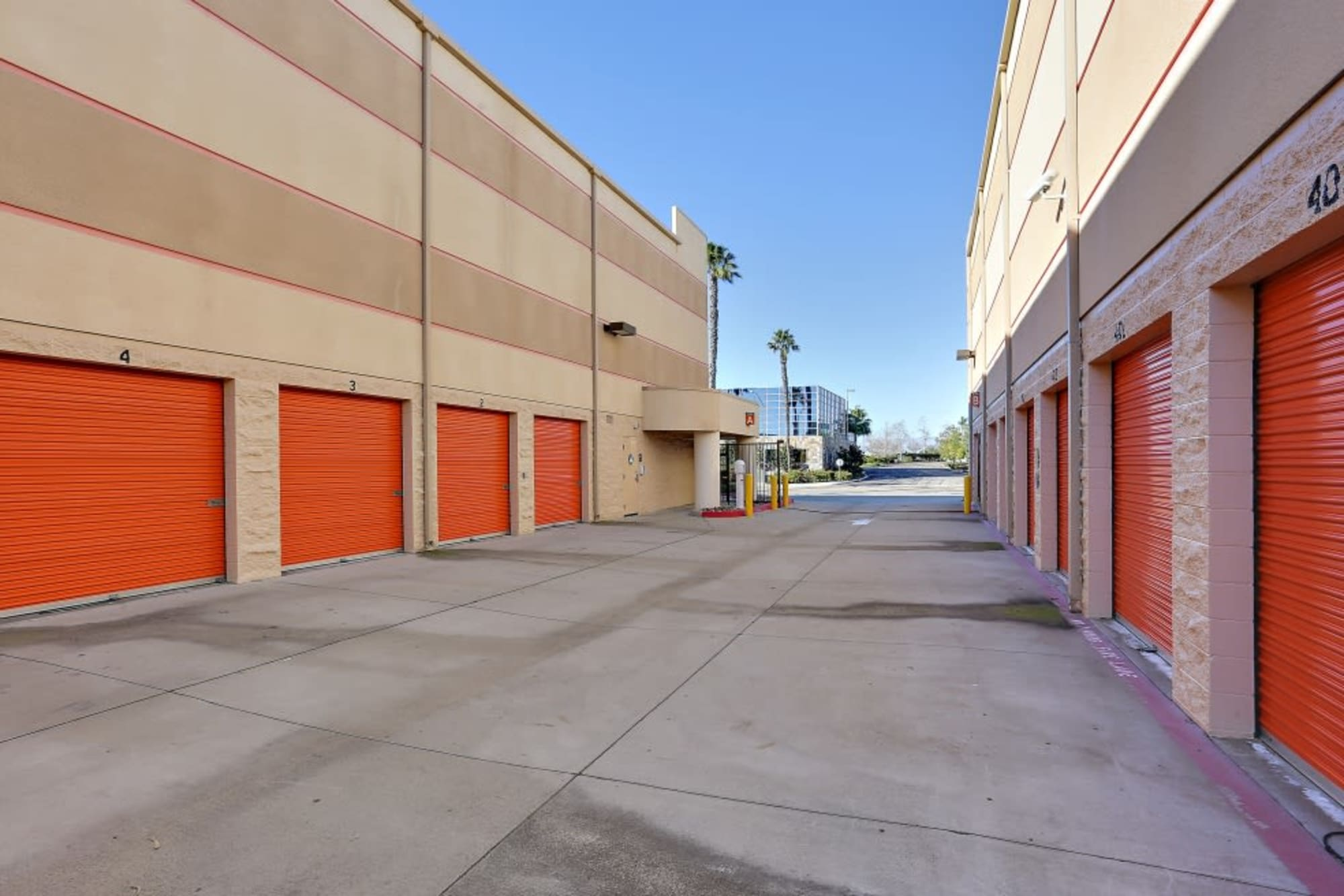 Some convenient drive-up storage units at A-1 Self Storage in San Diego, California