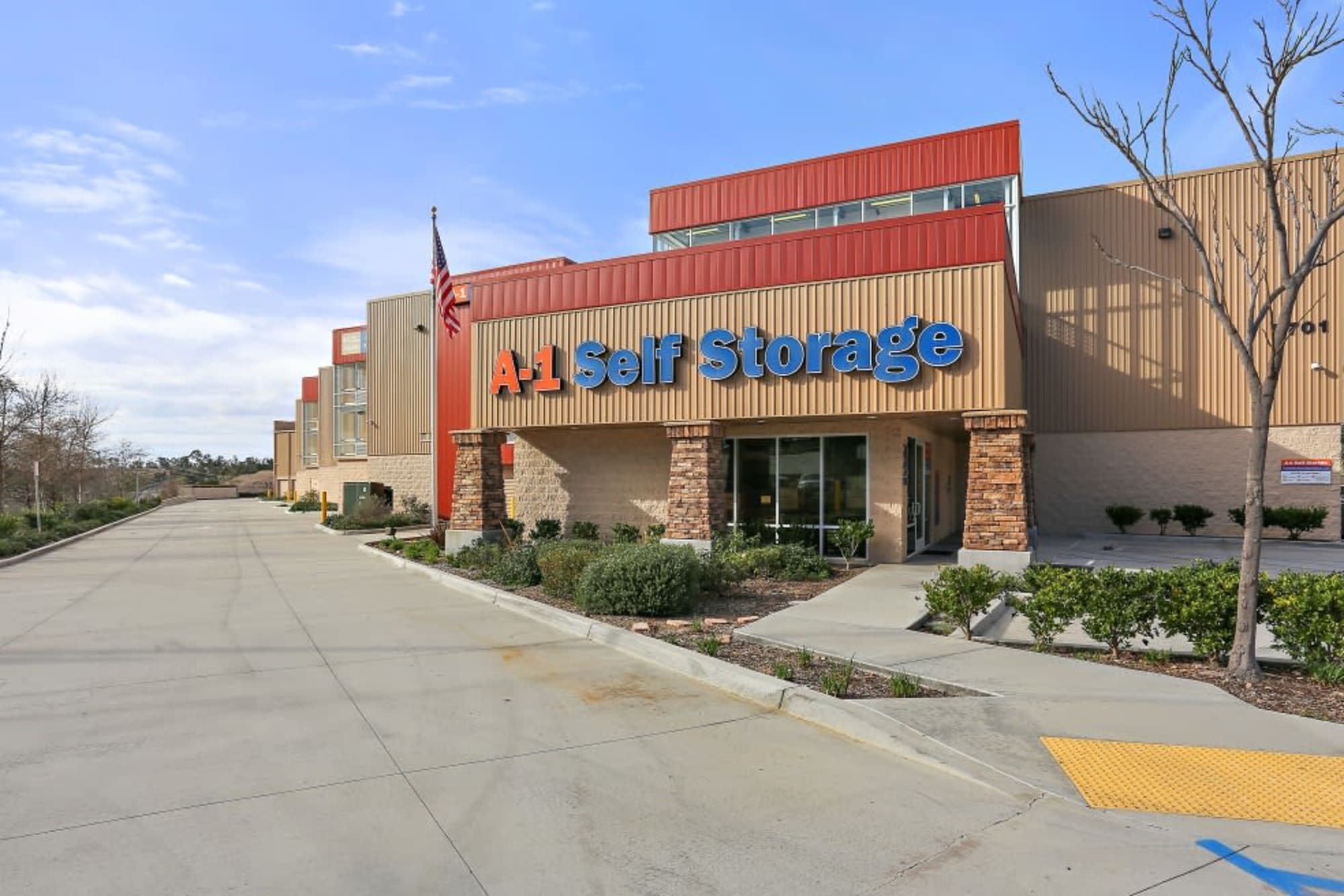 Front view of A-1 Self Storage in San Diego, CA