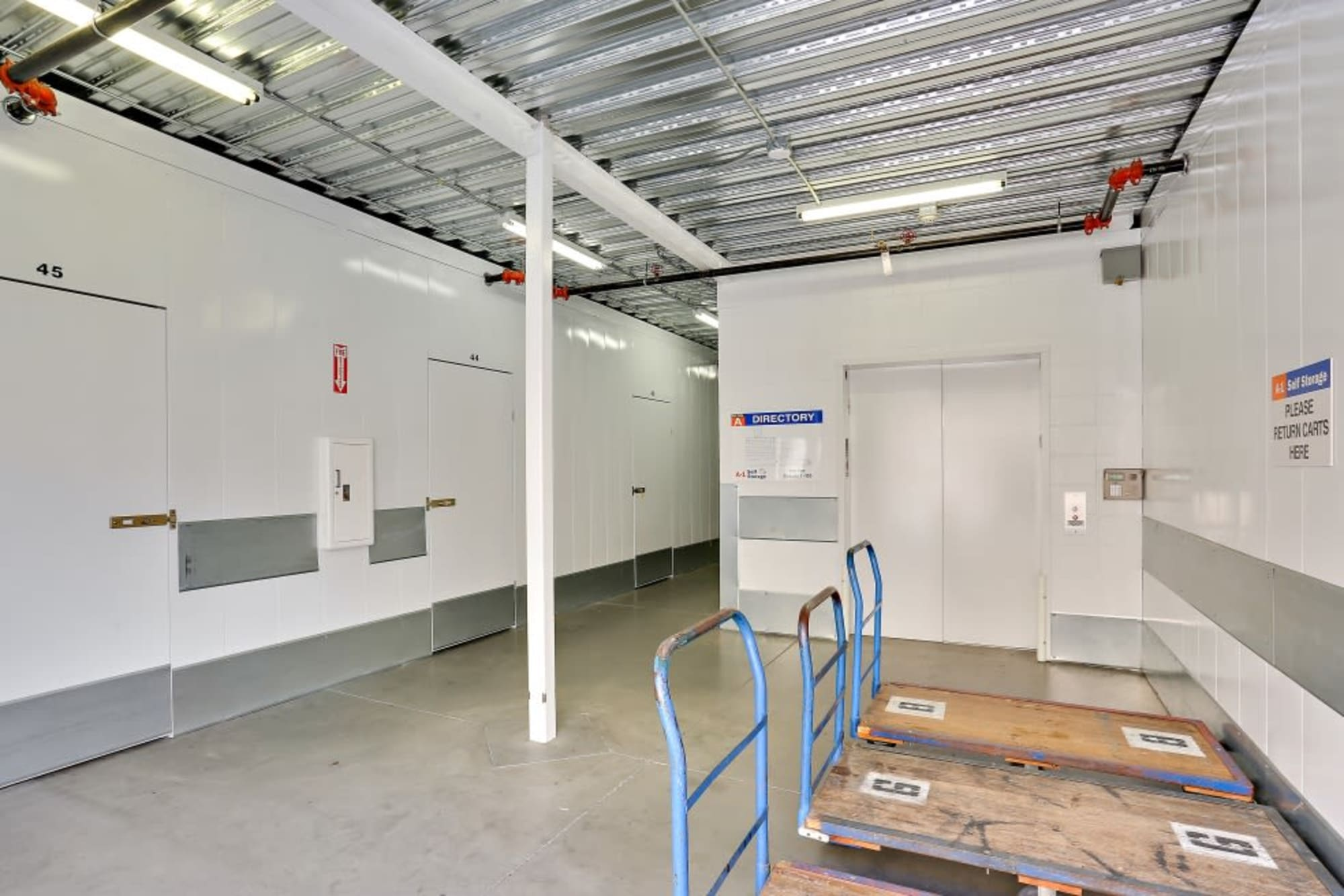 Elevator at A-1 Self Storage in San Diego, CA
