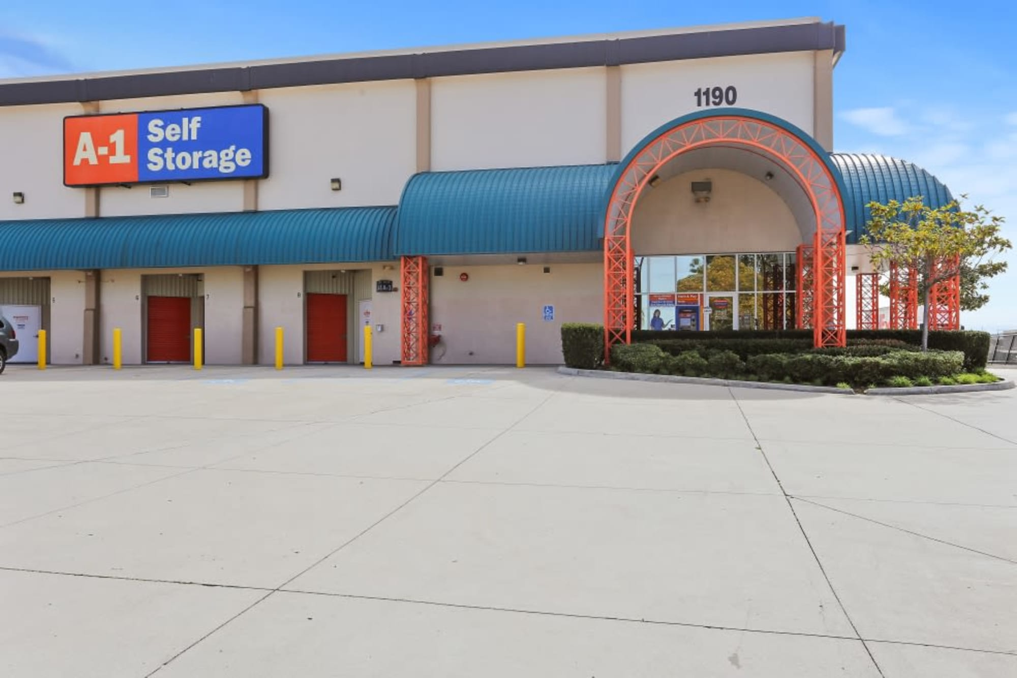 Exterior Storage units at A-1 Self Storage in San Diego, California