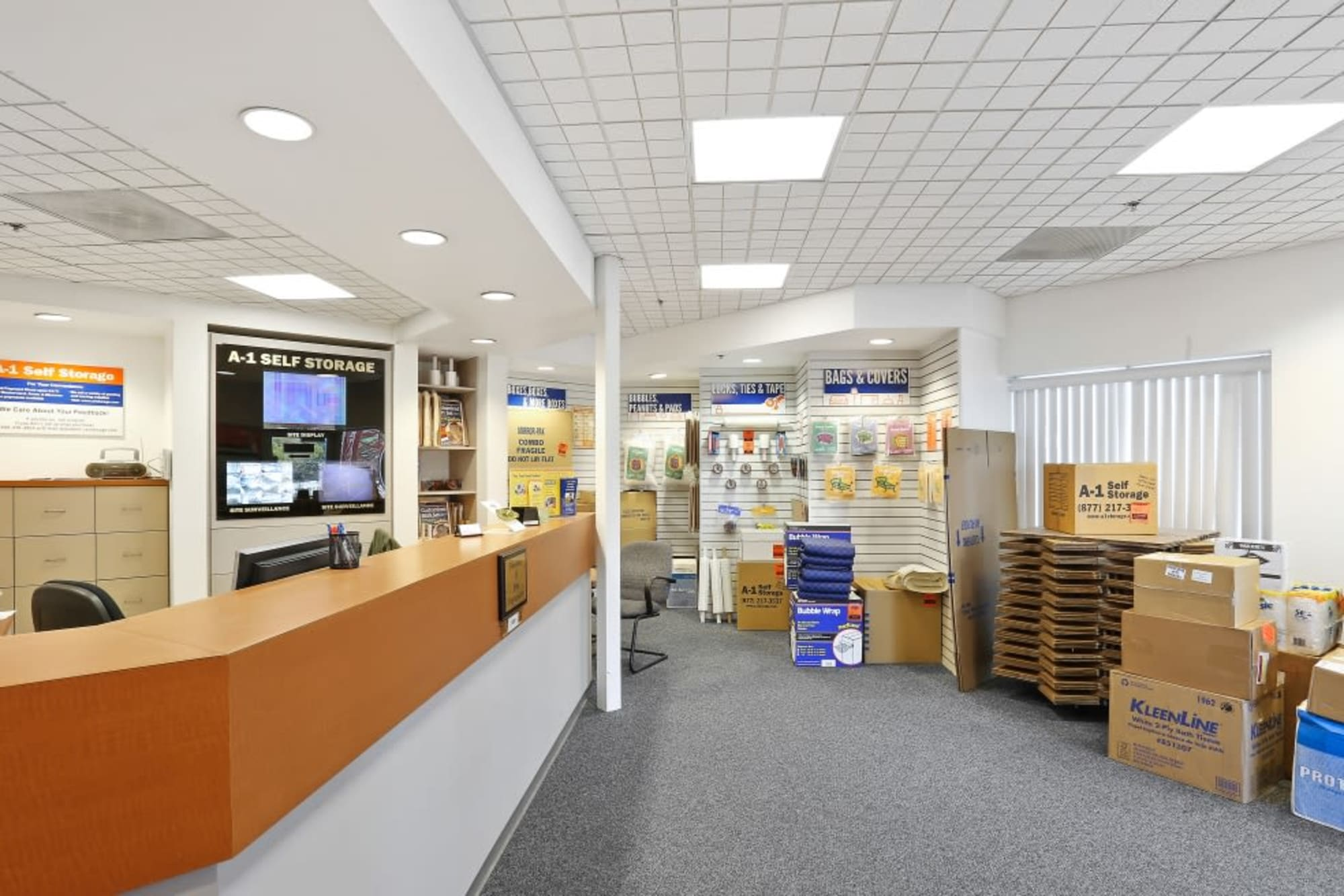 The service desk at A-1 Self Storage in San Diego, California