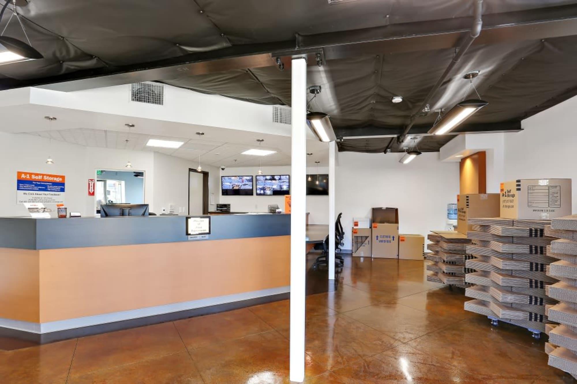 Service desk at A-1 Self Storage in San Diego, California