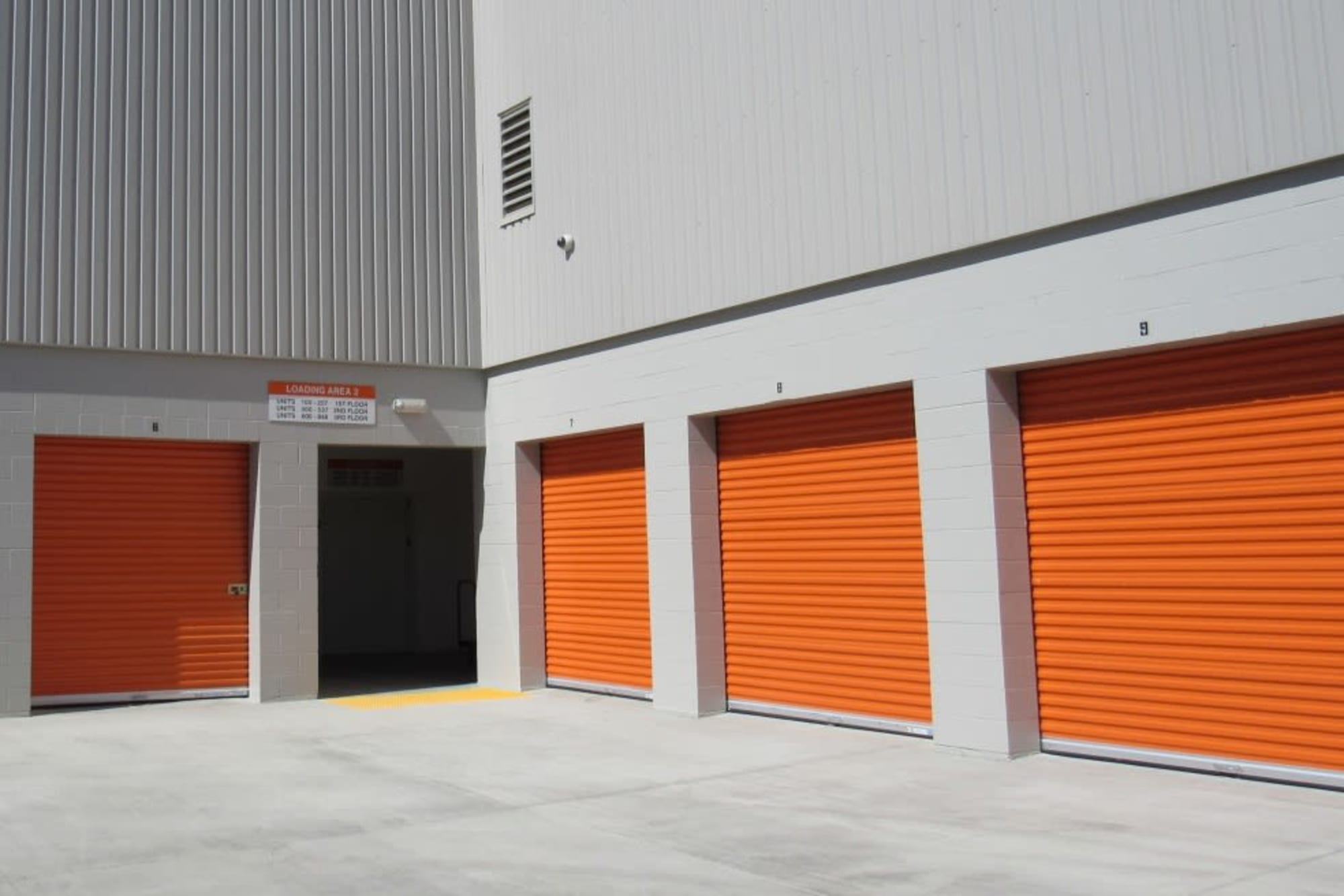 Outside easy access storage units in San Jose