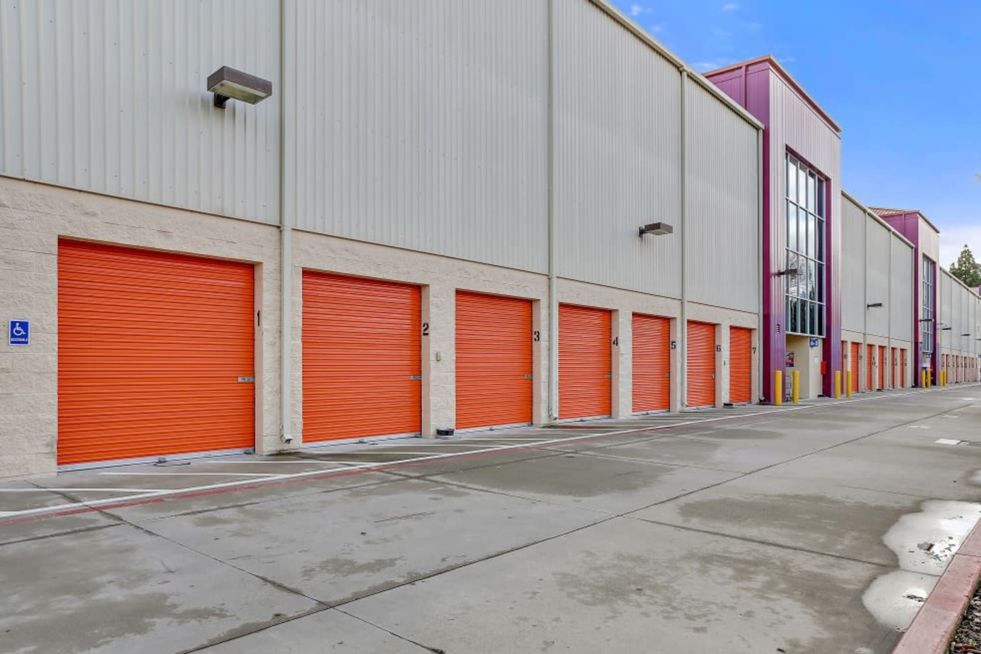 Outside-accessed storage units in San Jose
