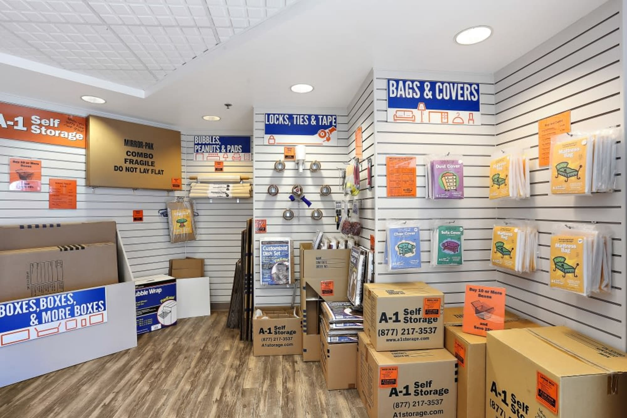 Packing supplies available from A-1 Self Storage in La Mesa, California