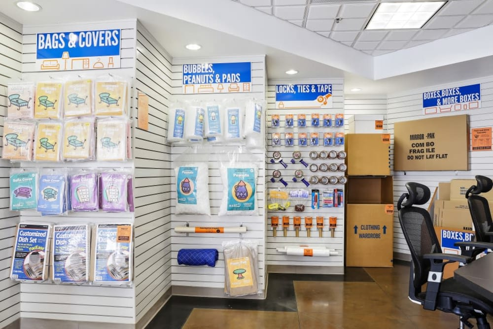 Packing and moving supplies available at A-1 Self Storage in Belmont, California
