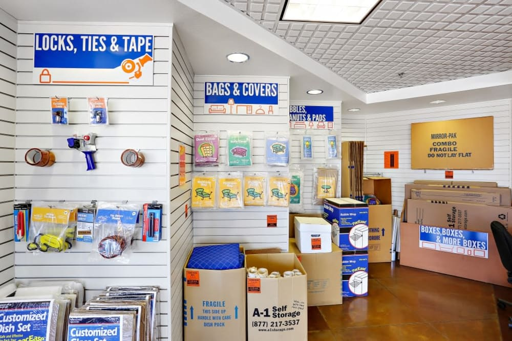 Packing and moving supplies available at A-1 Self Storage in San Diego, California