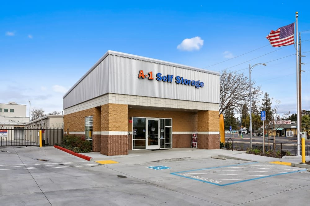 The office entrance of A-1 Self Storage in San Jose, California