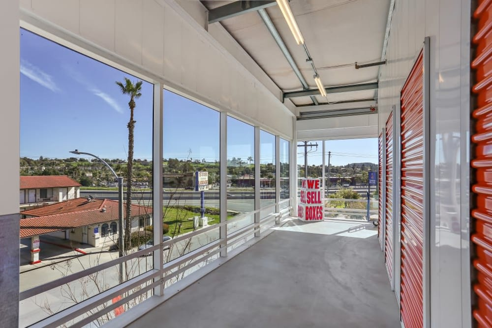 A nice view from indoor storage units at A-1 Self Storage in Vista, California