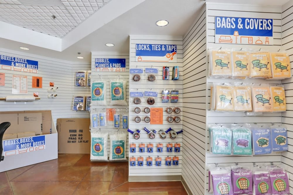 Packing and moving supplies available at A-1 Self Storage in Vista, California
