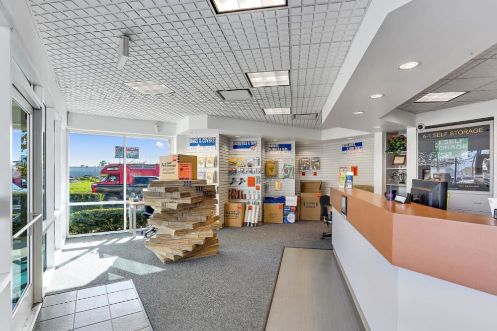 The office at A-1 Self Storage in Santa Ana, California