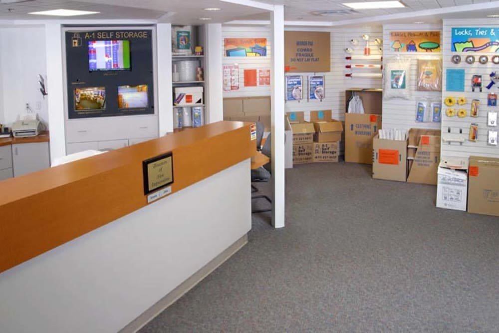 The office at A-1 Self Storage in San Jose, California