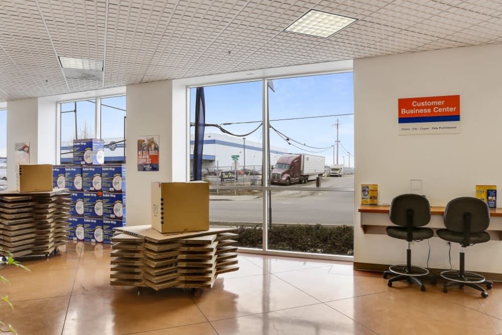 The office at A-1 Self Storage in Oakland, California