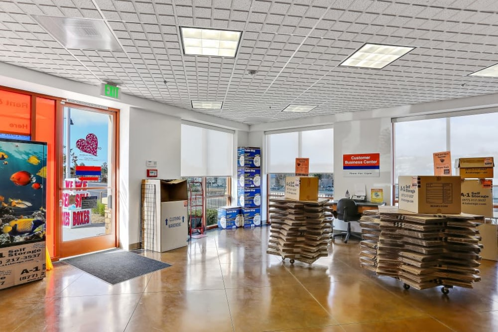 The office at A-1 Self Storage in San Juan Capistrano, California