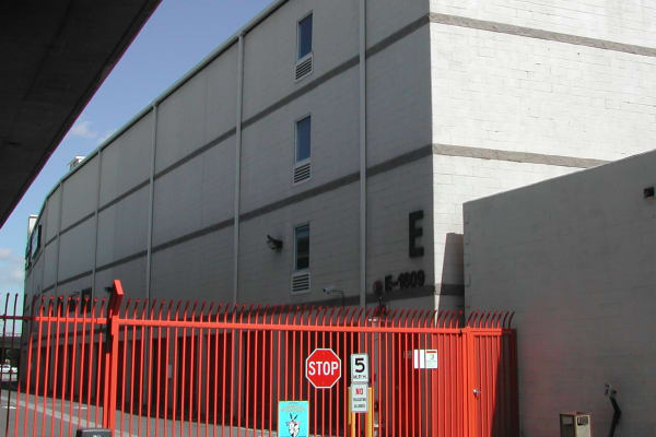 Gated access at Fort Self Storage in Los Angeles, California
