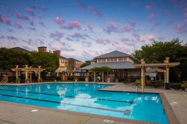 Resort-style swimming pool at Atkins Circle Apartments & Townhomes in Charlotte, North Carolina
