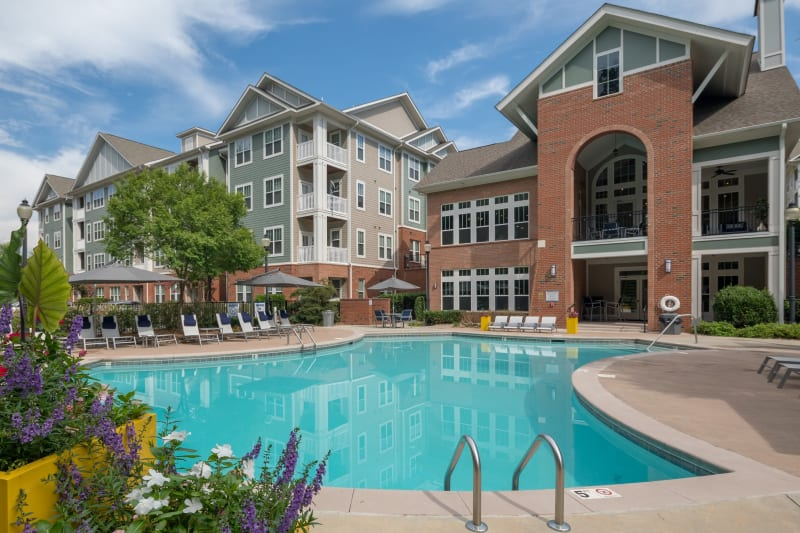 Resort style pool at The District in Charlotte, North Carolina