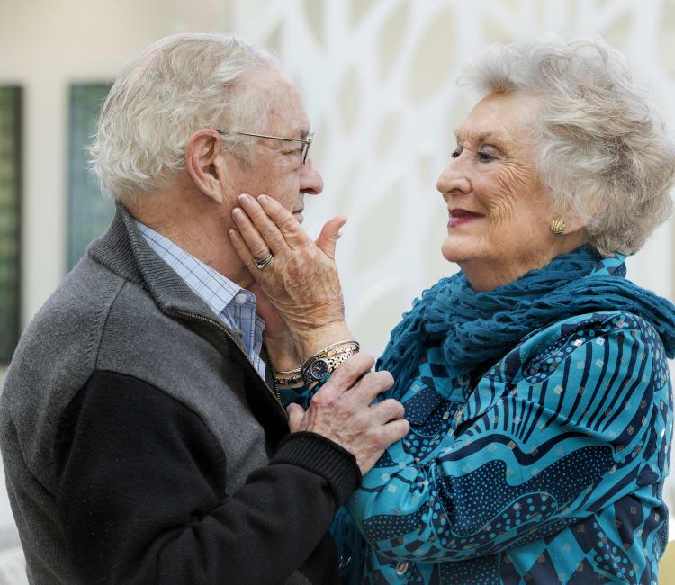 Couple at Maplewood at Weston in Weston, Massachusetts