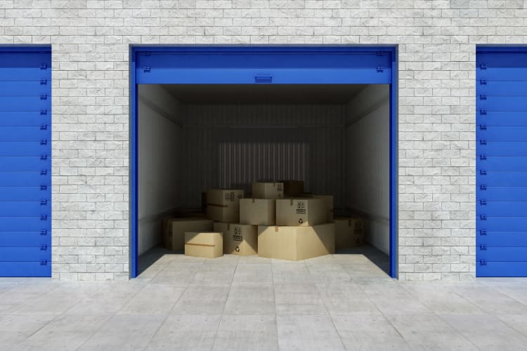 Inside a storage unit at Storage Star in Plano, Texas