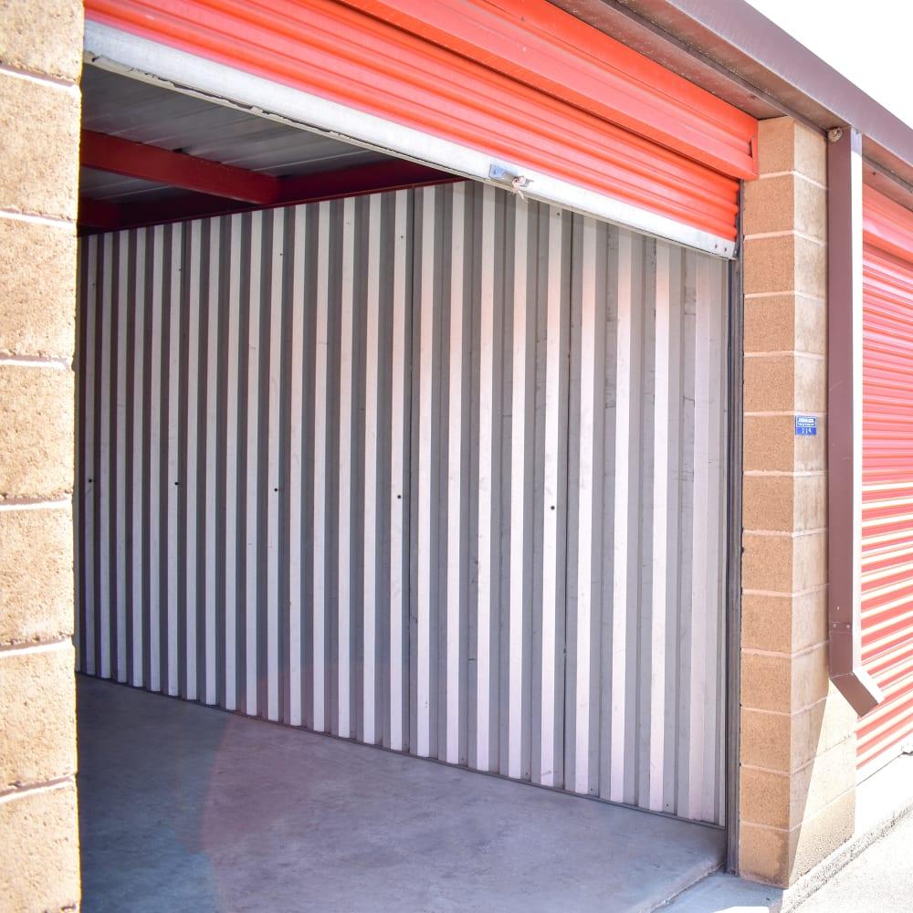 Inside of an exterior storage unit at STOR-N-LOCK Self Storage in Taylorsville, Utah