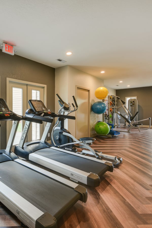 newly renovated fitness center at Carriage House Apartments in Vancouver, WA