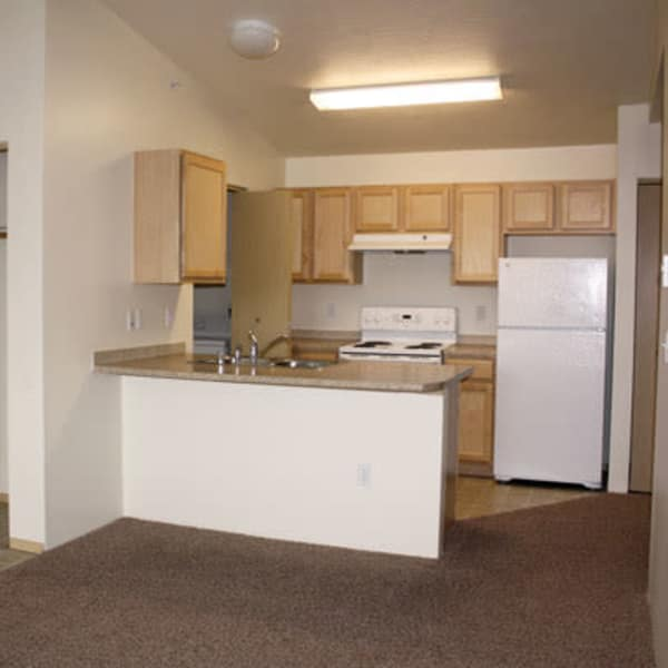 River Rock Apartments offers a quiet kitchen in Spokane Valley, Washington