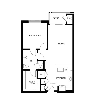 1 bedroom A1: 830 sq. ft. floor plan at Avenida Cool Springs