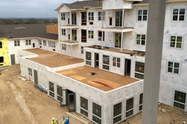 The Enclave at Cedar Park Senior Living under construction in Cedar Park, Texas