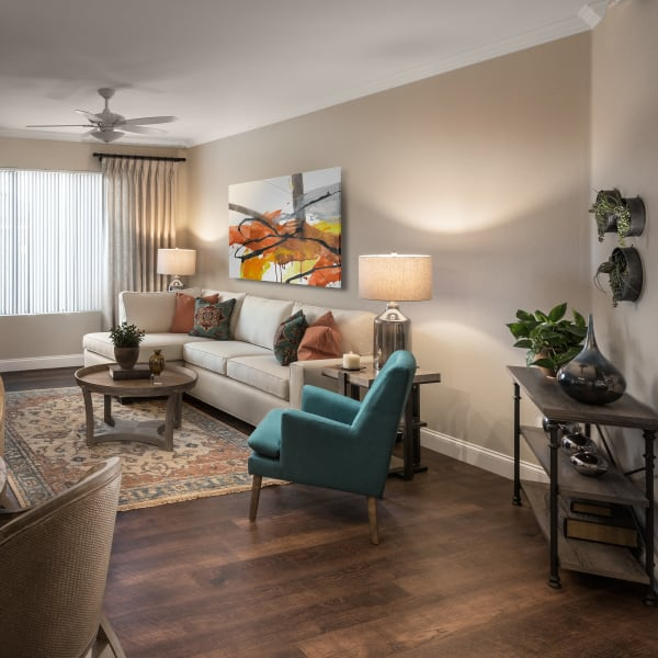 Stunning living room at San Artes in Scottsdale, Arizona