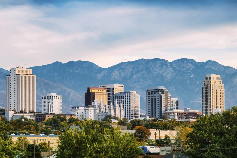 City views at Irving Schoolhouse Apartments in Salt Lake City, Utah
