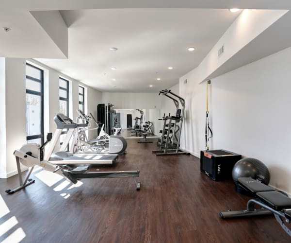 Community fitness center at The Eastland in Nashville, Tennessee