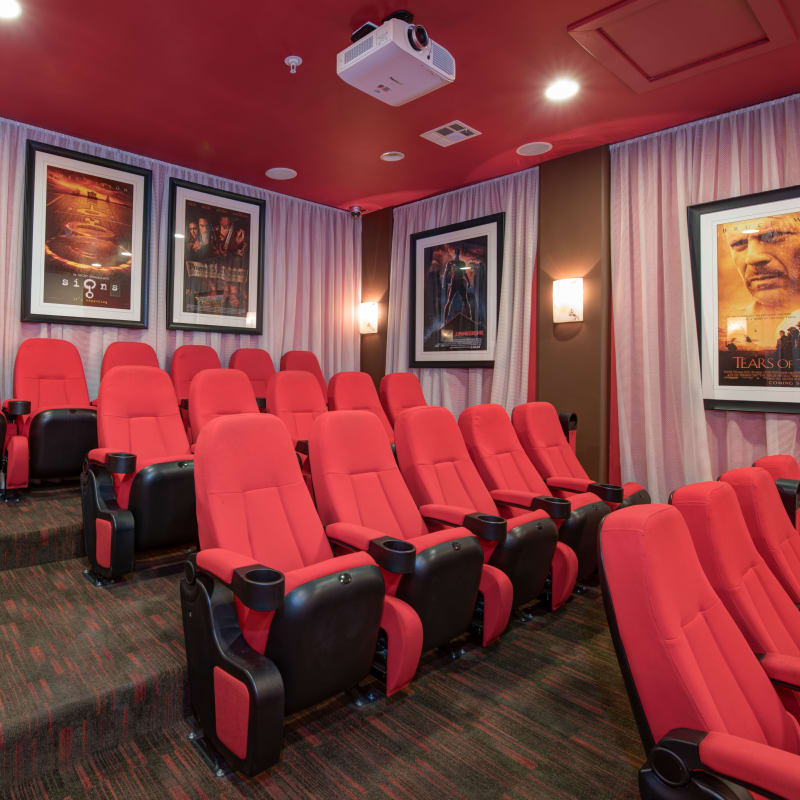 Onsite movie theater with stadium seating at Broadstone Towne Center in Albuquerque, New Mexico