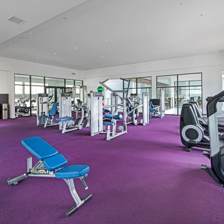 fitness center at Elevate