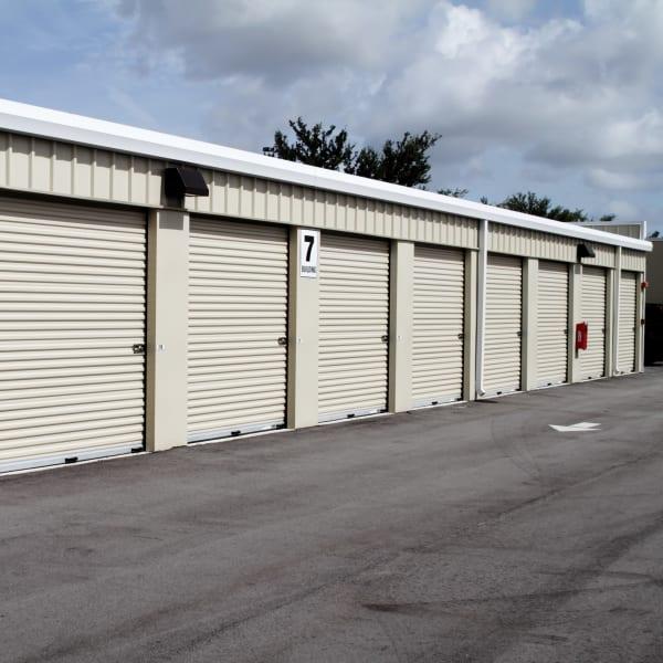 Exterior units of Hayward Self Storage in Hayward, California