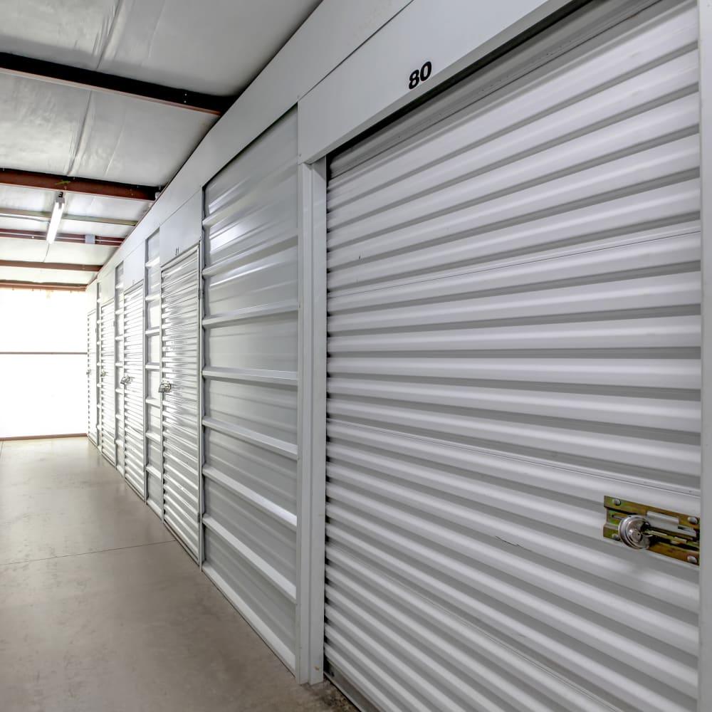 Well-lit interior at My Self Storage Space in Kealakekua, Hawaii