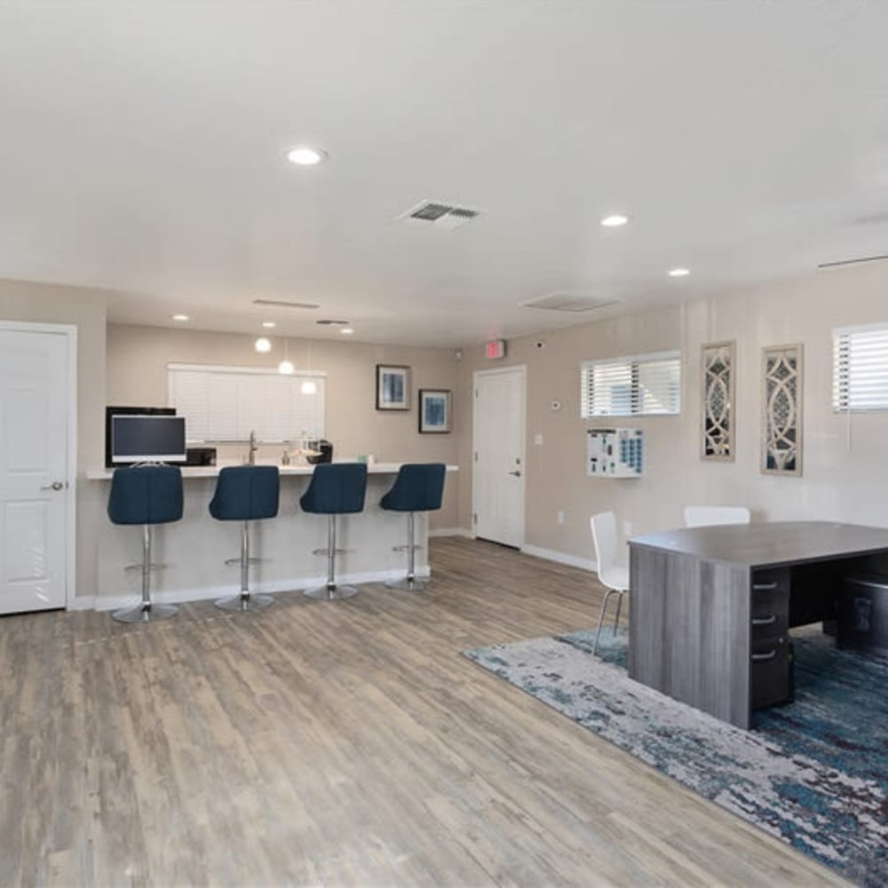The leasing office at 1408 Casitas at Palm Valley in Avondale, Arizona