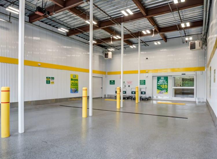 Indoor storage units at Metro Self Storage in Doylestown, Pennsylvania