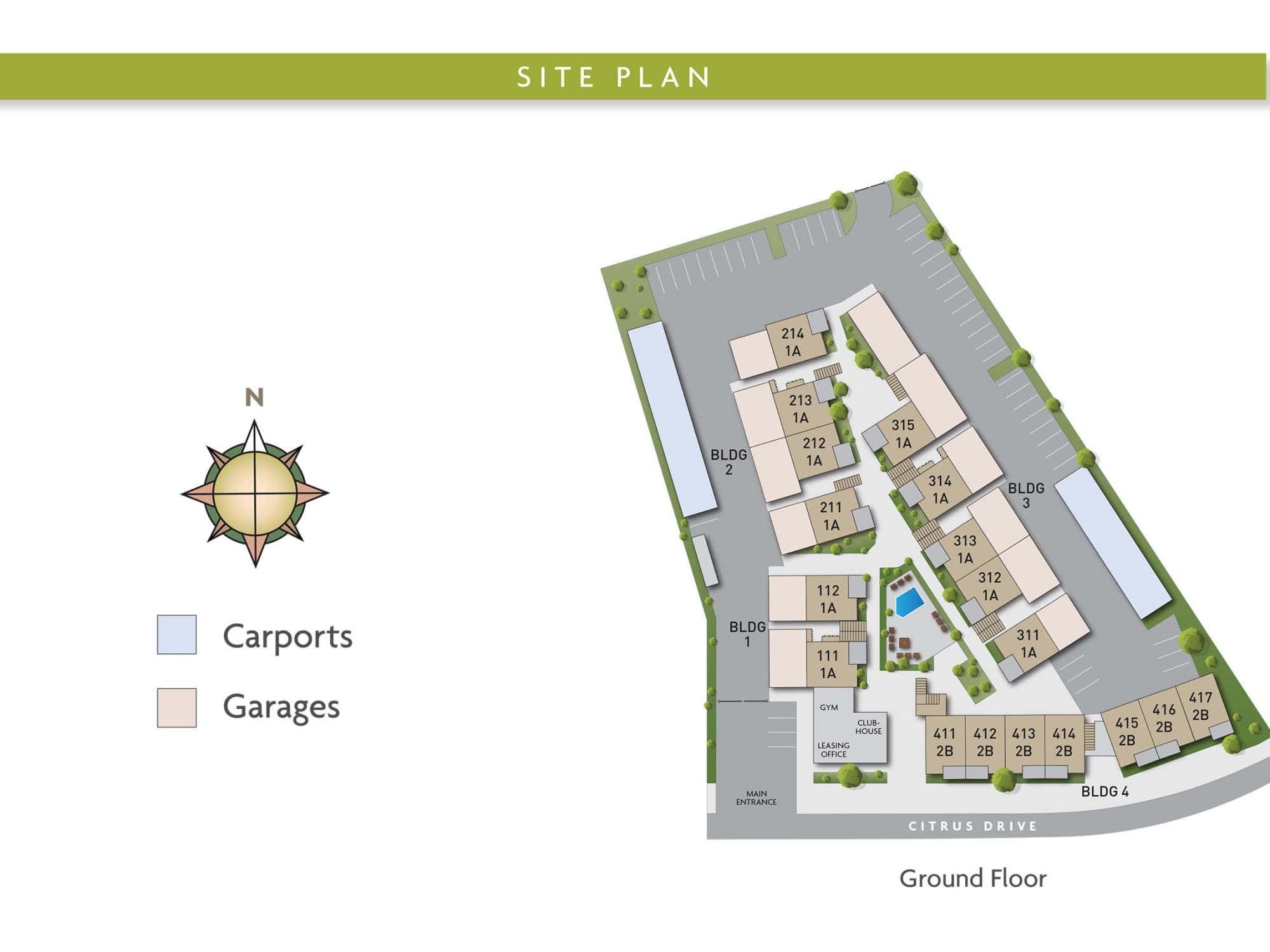 Site plan for Citron in Ventura, California