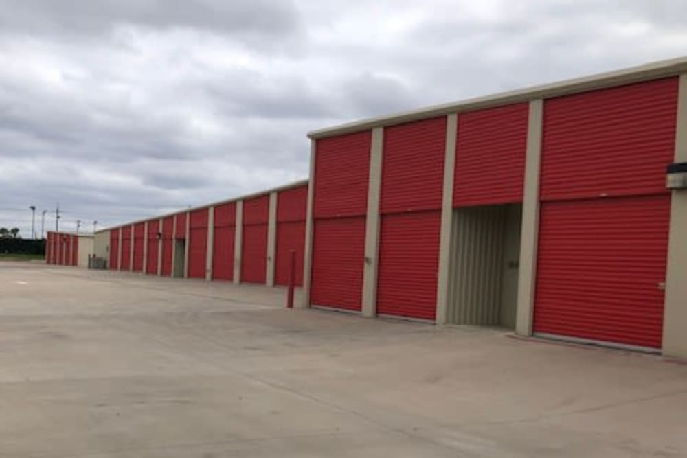 Exterior of outdoor units at Storage Star Quail Creek in Laredo, Texas