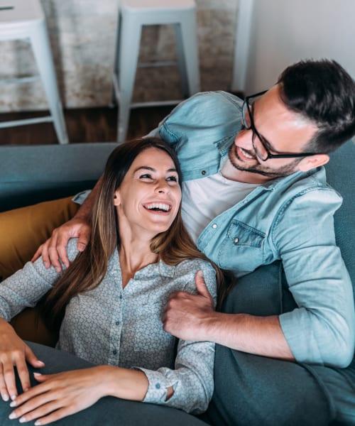 Resident couple enjoying their new home at EVIVA Midtown in Sacramento, California