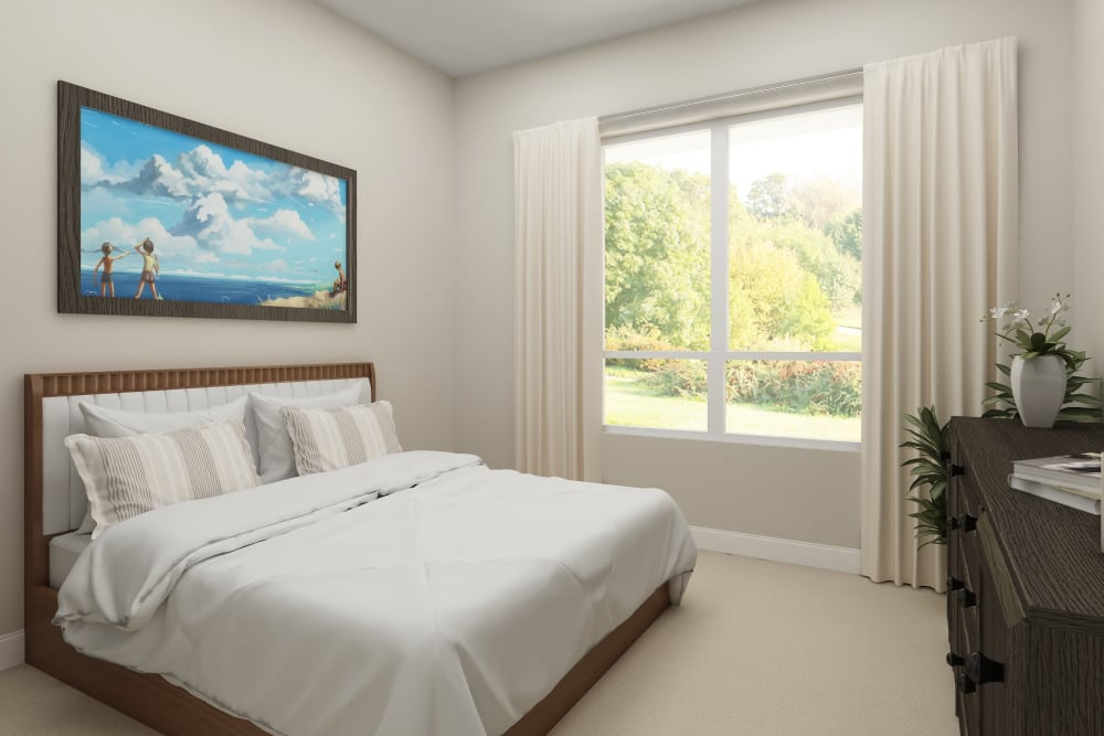 A spacious bedroom at Harmony at Bellevue in Nashville, Tennessee