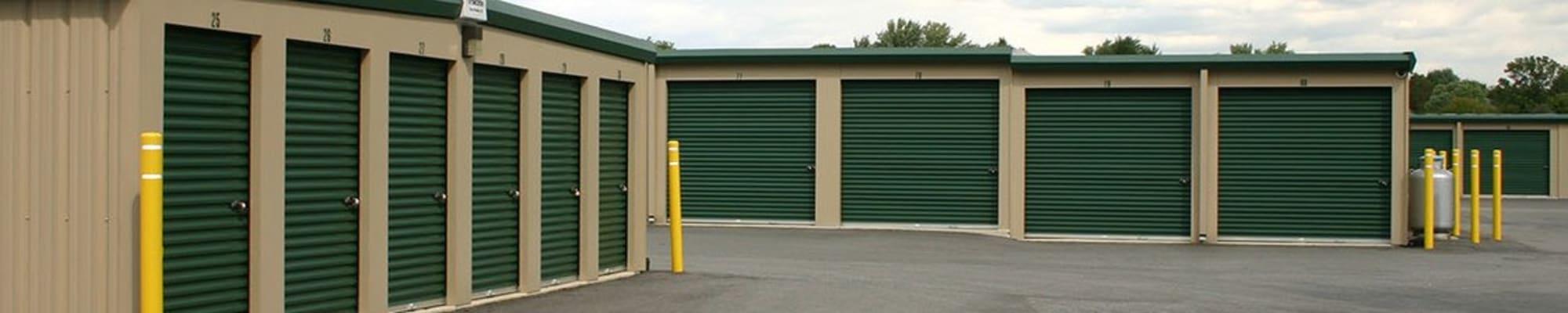 Storage units at Storage World in Reading, Pennsylvania