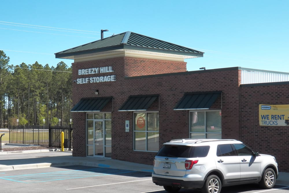 Exterior view of Breezy Hill Self Storage in Graniteville, South Carolina