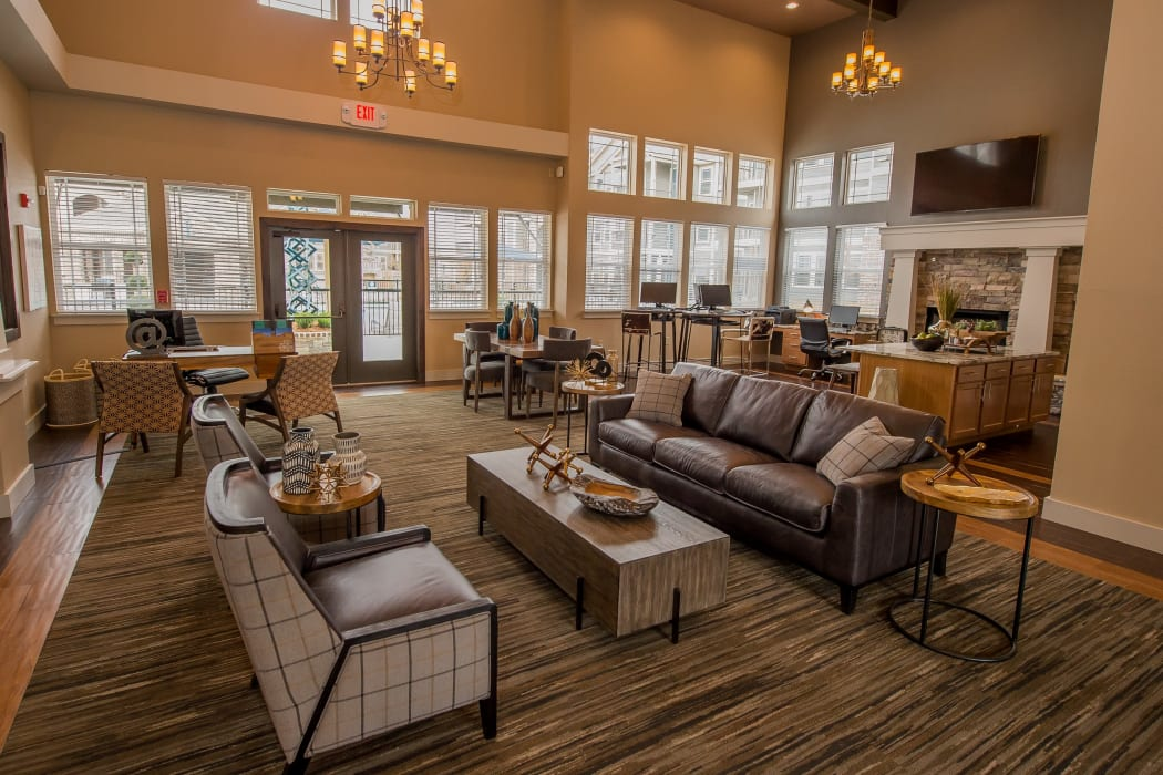 Fabulous clubhouse at Scissortail Crossing Apartments in Broken Arrow, Oklahoma