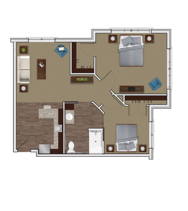 Two Bedroom Apartment at Stonecrest of McCandless