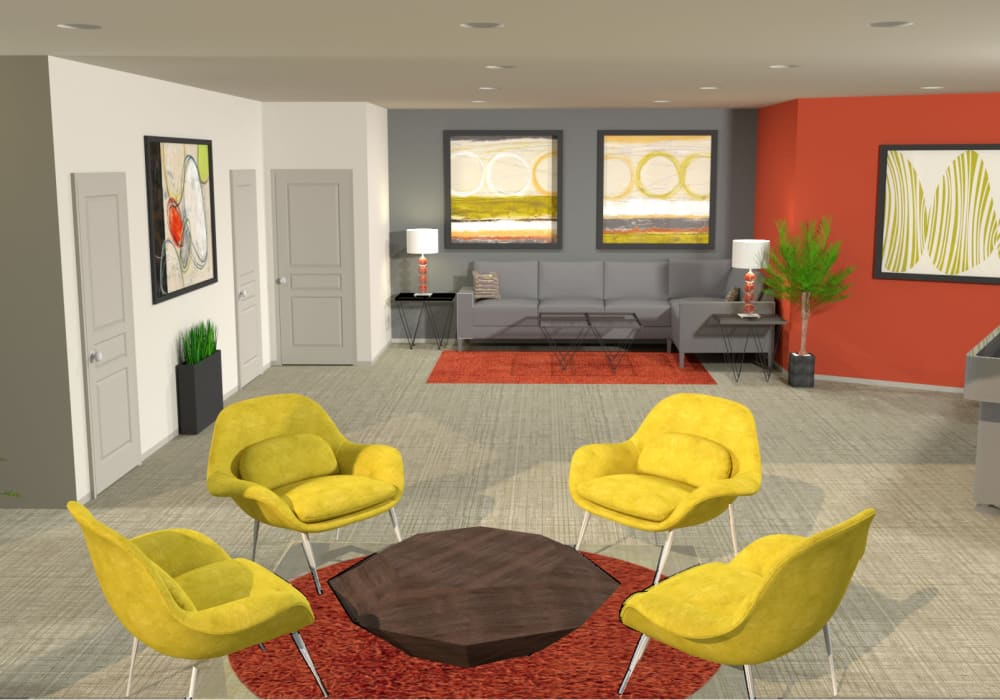 Clubhouse render for Elevation Apartments, Tucson, Arizona