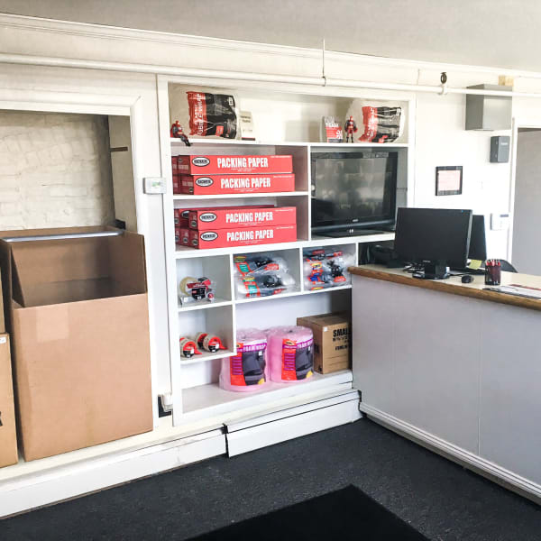 Packing supplies available in the leasing office at StorQuest Self Storage in Port Chester, New York