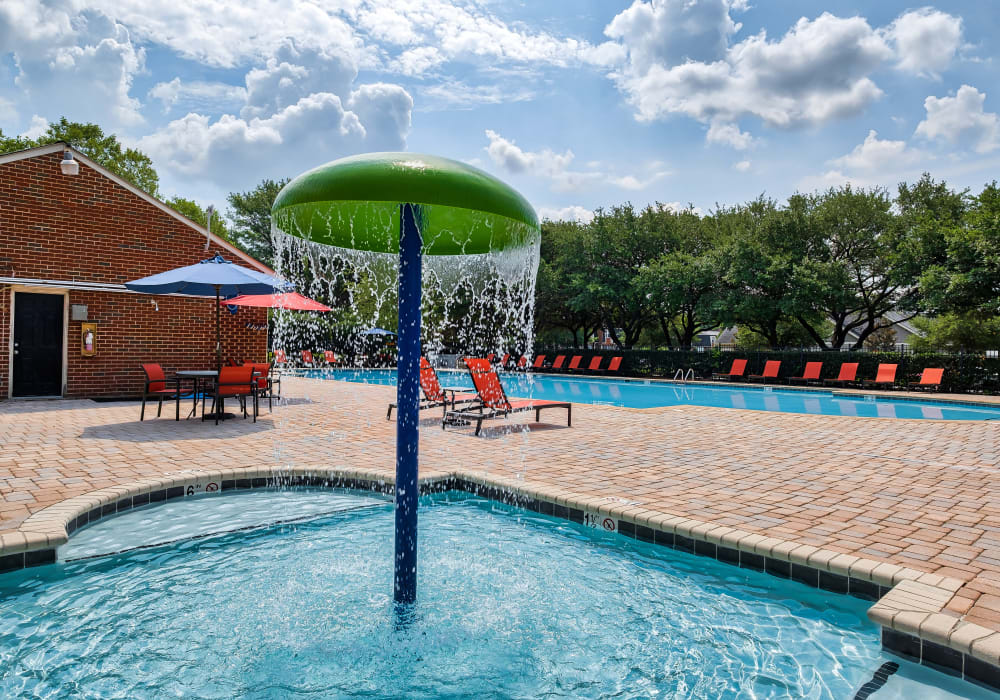 Swimming Pool & Splash Pad at Maple Bay Townhomes in Virginia Beach, Virginia