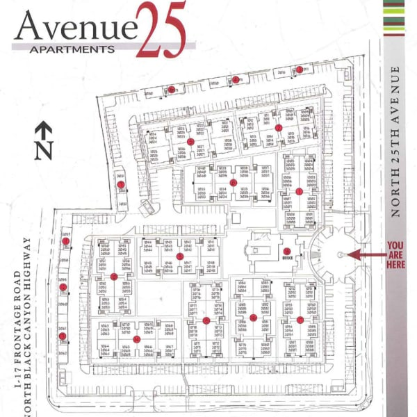Avenue 25 Apartments site plan